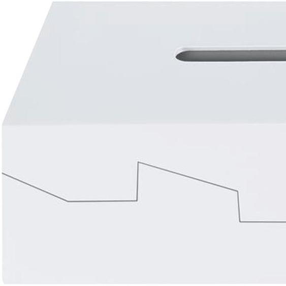 Papiertuchbox »Silhouette«, 12.8x8x24.8 cm (BxHxT), spirella, weiß, Material ABS-Kunststoff