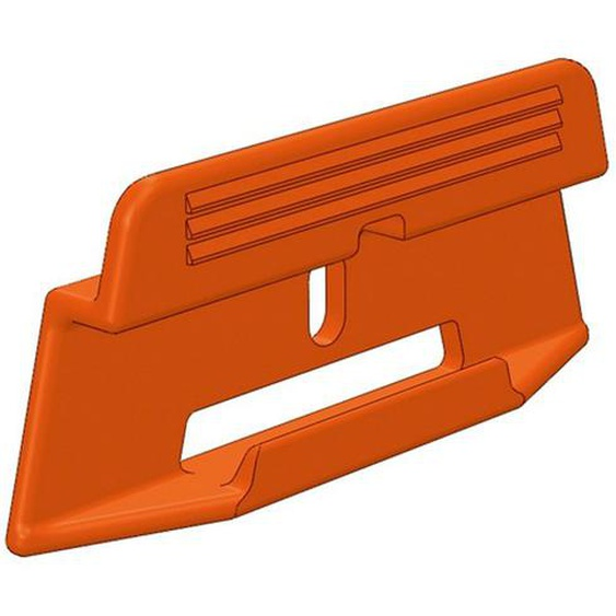 PARADOR Leisten-Befestigungsclips »Leistenclipse orange«, (Packung, 24-St), leicht abnehmbar zum Tapezieren, Streichen, Einpassen