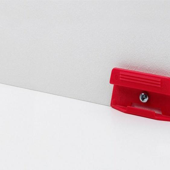 PARADOR Leisten-Befestigungsclips »Leistenclipse rot«, (Packung, 24-St), leicht abnehmbar zum Tapezieren, Streichen, Einpassen