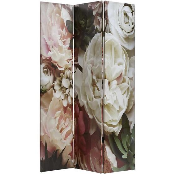 Paravent ca. 180/121,5/2,5 cm rosa Paravents Raumteiler Wohnaccessoires