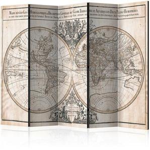 Paravent Mappe-Monde Geo-Hydrographique mit 5 Paneelen
