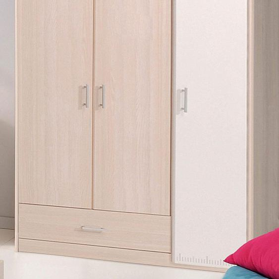 Parisot Kleiderschrank Charly 112 x 179 52 (B H T) cm, 3-türig beige Kinder Kinderschränke Kindermöbel Schränke