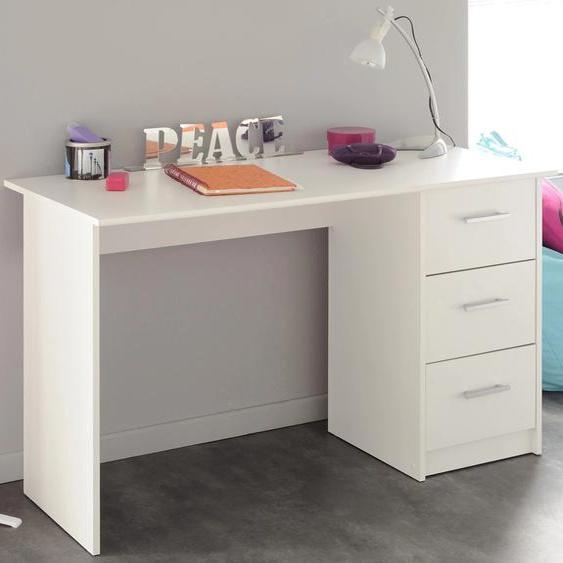 Parisot Schreibtisch Infinity Tischplatte: Kunststoff, Gestell: Kunststoff weiß Kinder Kinderschreibtische Kindermöbel Tisch
