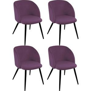 Paroli Armlehnstuhl »Dali« (Set, 4 Stück), (2 oder 4 Stück), mit Veloursbezug und in 2 Gestellfarben