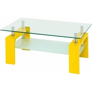 Paroli Couchtisch B/H/T: 100 cm x 45 60 cm, Rechteck gelb Couchtische Tische Möbel sofort lieferbar