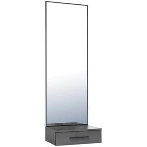 Spiegelpaneel Akron 0, (B/H/T): 50/150/35 cm grau Garderobenpaneele Garderoben Spiegel