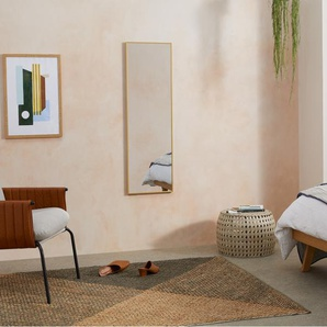 Parton Spiegel (40 x 120 cm), gebuerstetes Messing