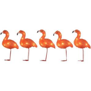 Party-Lichterkette Flamingos mit 5 Leuchten