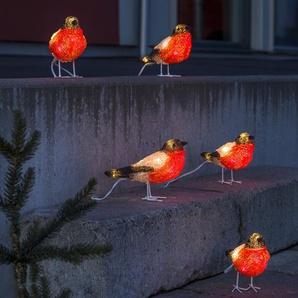 Party-Lichterkette Rotkehlchen mit 5 Leuchten