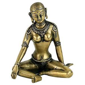 Parvati Statue Messing kupferfarben