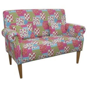 Patchwork Sofa in Bunt Stoff