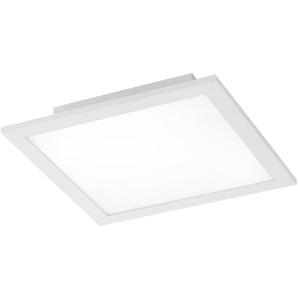 Paul Neuhaus LED-Deckenleuchte, 1-flammig, weiß eckig ¦ silber