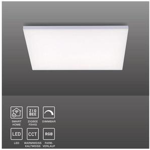 Paul Neuhaus LED Panel »Q - FRAMELESS«, LED Panel, Smart Home, CCT, RGB, FB, dimmbar, 62x62 cm