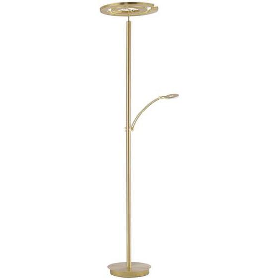 Paul Neuhaus LED-Stehlampe, Messing, Alu, Eisen, Stahl & Metall