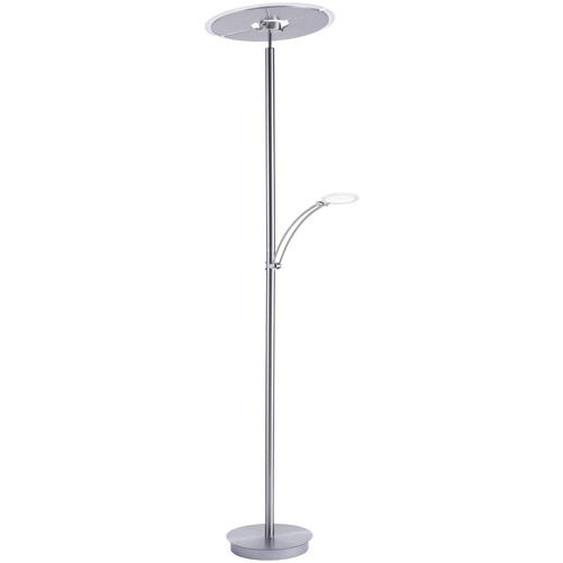Paul Neuhaus LED-Stehlampe, Silber, Alu, Eisen, Stahl & Metall