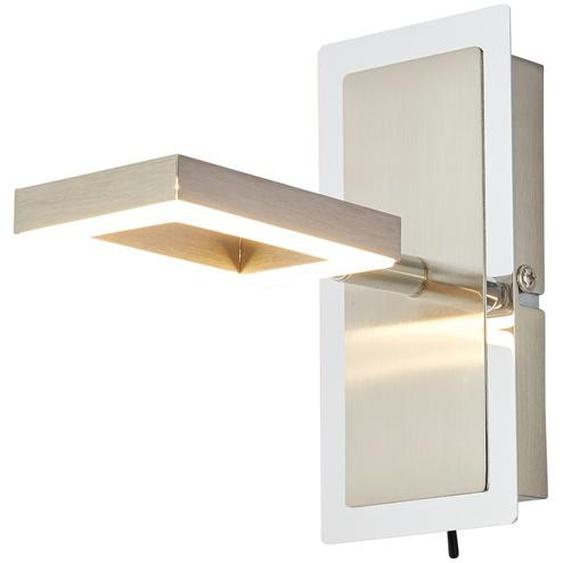 Paul Neuhaus LED- Strahler, 1-flammig, Leuchtelement quadratisch ¦ silber