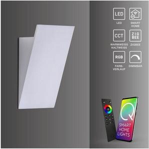 Paul Neuhaus LED Wandleuchte »Q - WEDGE«, LED Wandleuchte, Smart Home, RGB, CCT, FB, dimmbar, 1xLED/4,00W