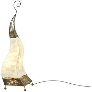 Paul Neuhaus Tischleuchte, 1-flammig, Oriental-Style ¦ braun