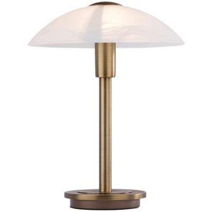 Paul Neuhaus Tischleuchte altmessing mit Glasschirm - gold - 26 cm   Möbel Kraft