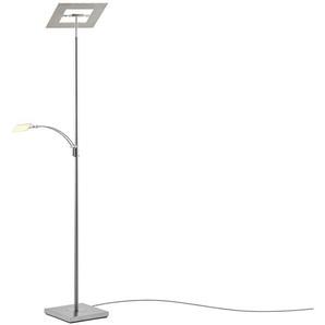 KHG LED-Deckenfluter, 2-flammig, nickel matt | silber | 30 cm | 180 cm | Möbel Kraft