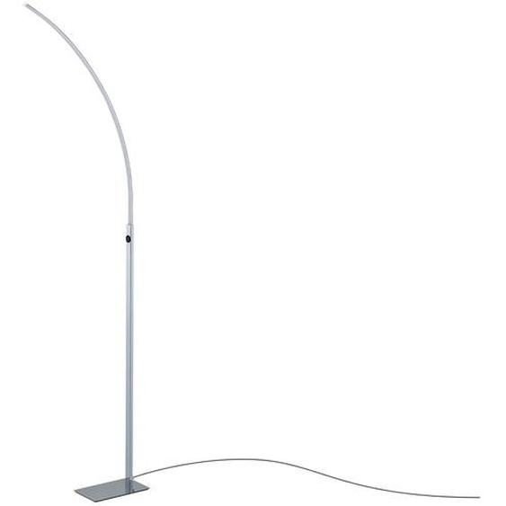 Paul Sommerkamp Leuchten LED-Stehleuchte, 1-flammig gebogen ¦ silber