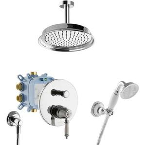 Duschsystem Nostalgie Retro Regendusche Dusch Set Komplett mit Box Deckeneinbau - PAULGURKES
