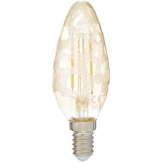 Paulmann LED-Lampe Kerze Krokoeis golden 4,5 W Ø 35 x 97 mm