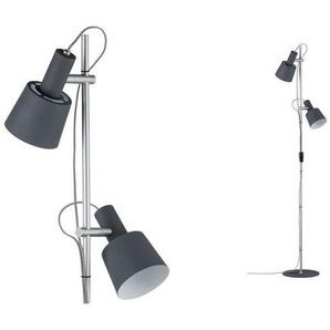 Paulmann LED Stehlampe »Neordic Haldar Dunkelgrau/Chrom matt«, 2-flammig