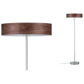 Paulmann LED Stehlampe »Neordic Liska Holz dunkel/Chrom matt«, 3-flammig