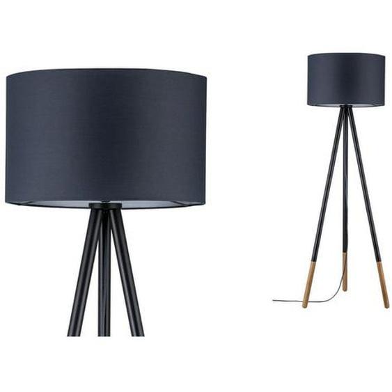 Paulmann LED Stehlampe »Neordic Rurik Grau/Holz Stoffschirm«