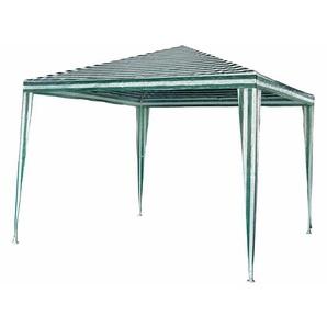 Pavillon Polyethylen grün/weiß 3 x 3 m