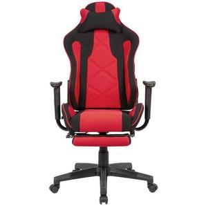 PC Gaming Stuhl in Schwarz und Rot Sitztiefenverstellung