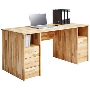 PC Schreibtisch aus Kernbuche massiv 140 cm