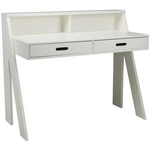 PC Schreibtisch in Weiß Kiefer Massivholz