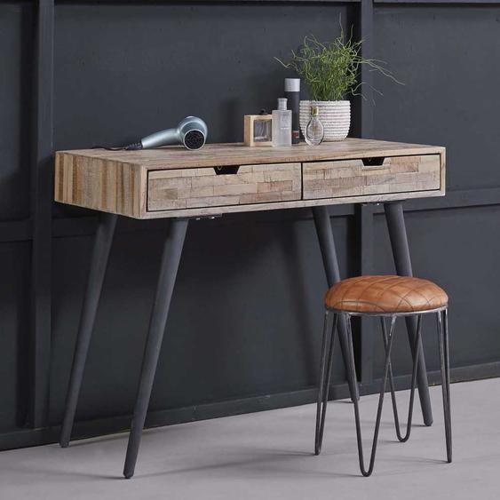 PC Tisch aus Teak Massivholz Metall