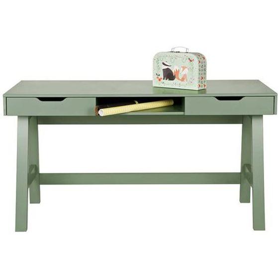 PC Tisch in Grün Kiefer Massivholz
