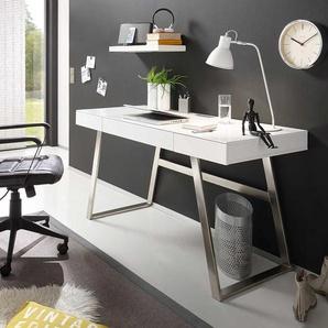 PC Tisch in Wei� 140 cm