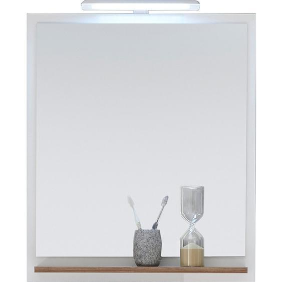 Pelipal Bad-Spiegel Noventa 74 cm x 60 cm x 15,5 cm Weiß-Eiche