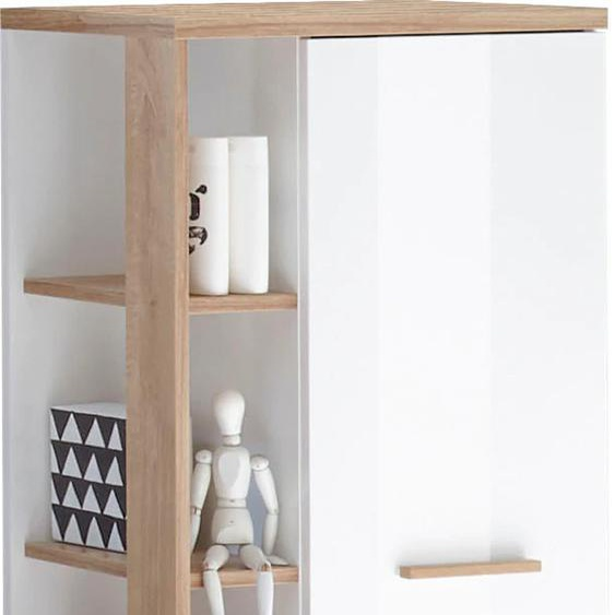PELIPAL Midischrank Noventa 50,5 x 128 33 (B H T) cm, 1-türig weiß Bad-Midischränke Badmöbel Schränke