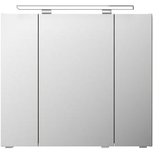 Pelipal Spiegelschrank 80 cm Graphit Struktur quer LED-Aufsatzleuchte