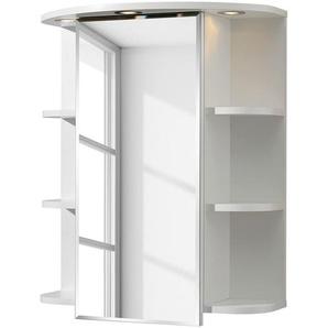 Pelipal Spiegelschrank Forli Spanplatte Weiß 60x70x20 cm (BxHxT) Spiegel Modern 1-türig