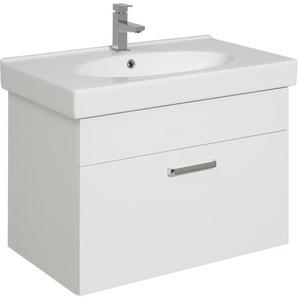 Pelipal Waschbeckenunterschrank 75 cm Wiesbaden Weiß Glanz