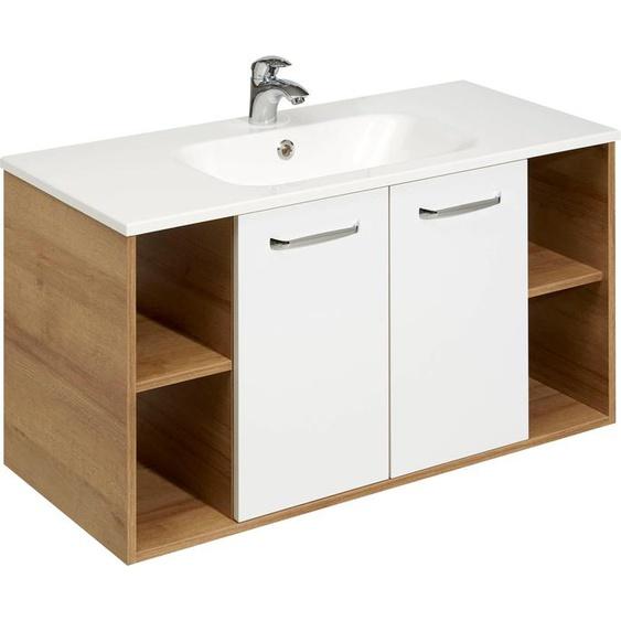 PELIPAL Waschtisch Rovato, Breite 101 cm, Mineralgussbecken Einheitsgröße weiß Waschtische Badmöbel