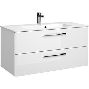 Pelipal Waschtischunterschrank 105 cm Trentino Weiß Hochglanz