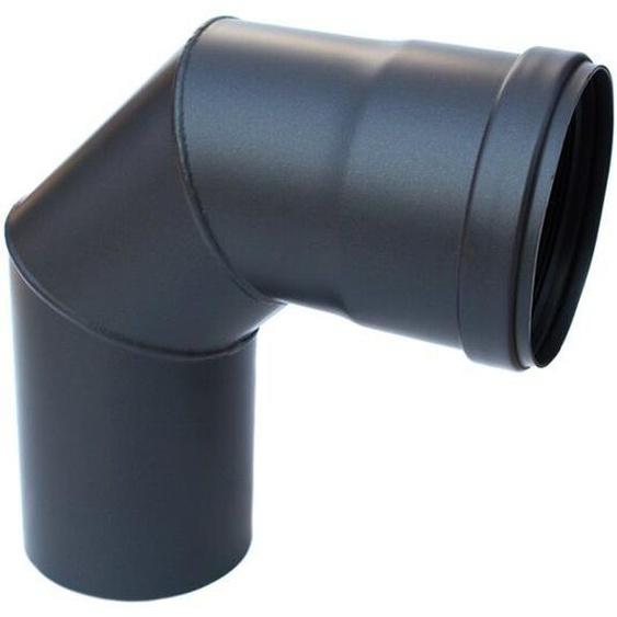 Pelletrohr Winkel 90° Dn 80 Mm Dichtung Rauchrohr Kamin Schwarz Stahl