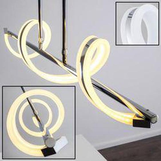 PELLY Pendelleuchte LED Chrom, 1-flammig - Modern - Innenbereich - versandfertig innerhalb von 2-3 Wochen