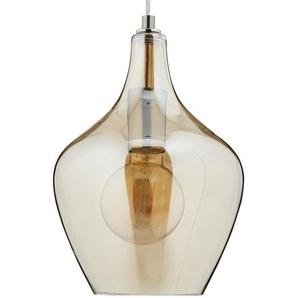 Pendelleuchte, 1-flammig, Glas bernsteinfarben - gelb   Möbel Kraft