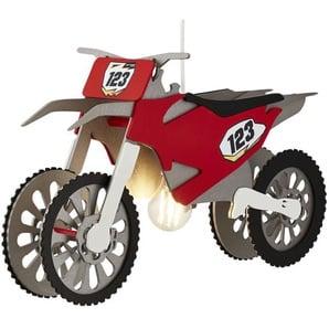Pendelleuchte, 1-flammig, Motocrossmaschine | rot | 30 cm | 20 cm | Möbel Kraft