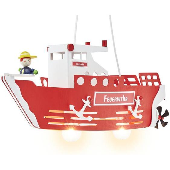 Pendelleuchte, 2-flammig `Feuerwehrschiff` ¦ rot