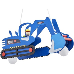 Pendelleuchte Bagger - blau - 25 cm - 30 cm | Möbel Kraft
